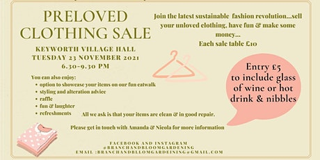 Preloved Clothing Sale.  Join the latest sustainable fashion revolution... tickets