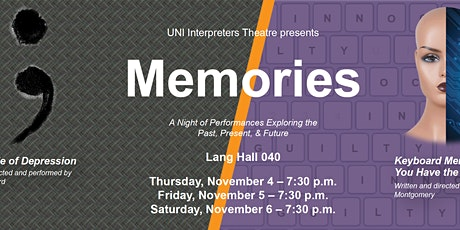 Memories: Decade of Depression & Keyboard/Forget @ UNI Interpreters Theatre tickets