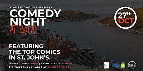 Comedy Night at Boca Tapas tickets