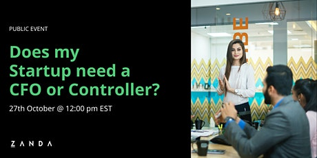 Does my Startup need a CFO or Controller? tickets