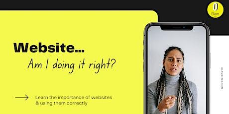 Website Tips to get More Customers (Webinar) tickets
