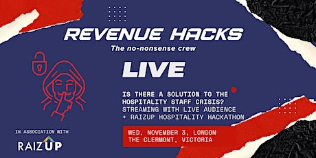 Revenue HACKS Live in Association with RAIZUP tickets