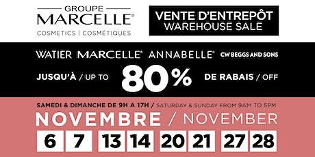 Vente d'entrepôt Groupe Marcelle Warehouse Sale tickets