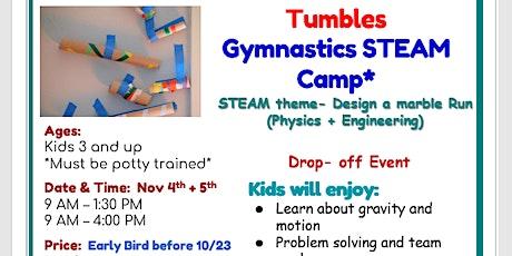 Tumbles Gymnastics STEAM Camp - NJEA Weekend. Nov 4th + Nov 5th  Age 3+ tickets