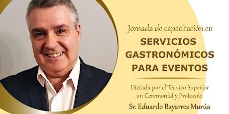 jornada de capacitación en servicios gastronómicos entradas