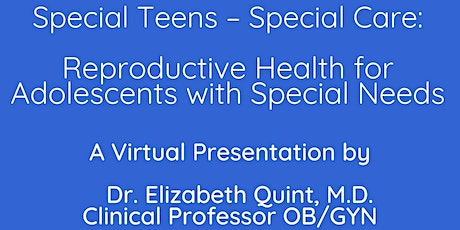 Reproductive Health for Adolescents with Special Needs tickets