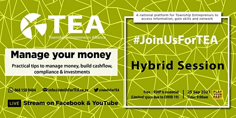 Manage your MONEY Business workshop #JoinUsForTEA tickets