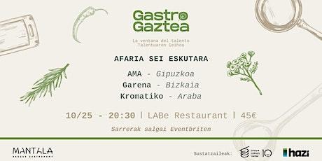 Gastro Gaztea - La ventada del talento (cena a 6 manos) entradas