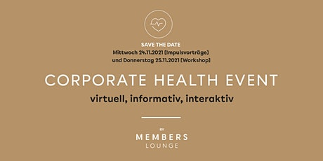 CORPORATE HEALTH EVENT 2021 tickets