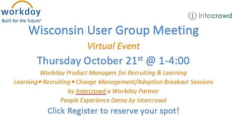 Wisconsin User Group Meeting tickets