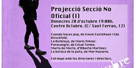 20 Oct - PROJECCIÓ SECCIÓ NO OFICIAL(I). XVa EDICIÓ CORTOCOMENIUS entradas