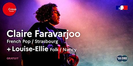 Concert / CLAIRE FARAVARJOO + LOUISE-ELLIE billets