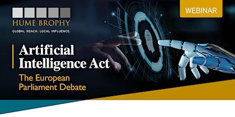 Artificial Intelligence Act, the European Parliament Debate tickets