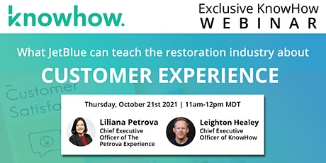 Provide World-Class Customer Experiences In the Restoration Industry! tickets