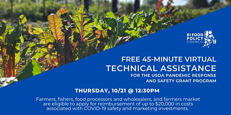 Technical Assistance for USDA Pandemic Response and Safety Grant tickets