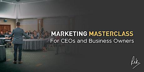 Business Marketing Masterclass - LIVE Webinar for CEO's by Rik Courtney tickets