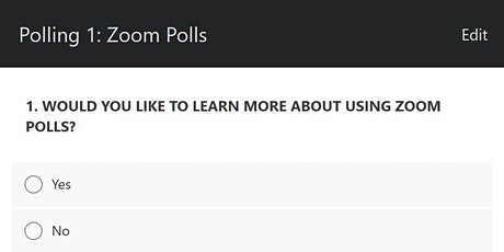 Engaging Learners using Zoom – Polls tickets