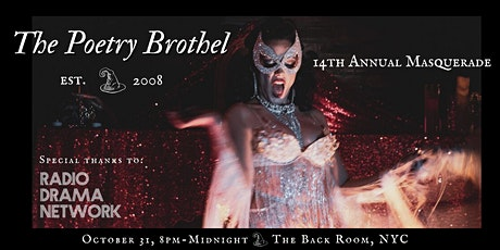 The Poetry Brothel: NYC's 14th Annual Masquerade! tickets
