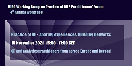 Annual Workshop: Practice of OR – sharing experiences, building networks tickets