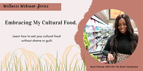 Learning To Embrace Your Cultural Food tickets