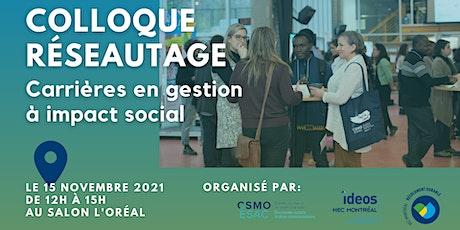Colloque réseautage - Carrières en gestion à impact social tickets