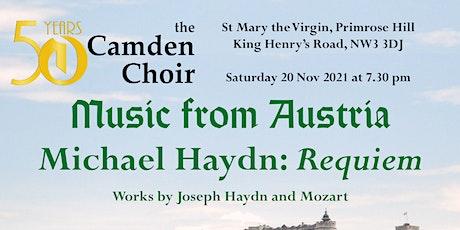 Camden Choir concert 20 Nov. 2021 tickets