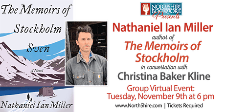 """Northshire Online: Nathaniel Ian Miller """"The Memoirs of Stockholm Sven"""" tickets"""