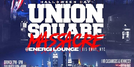 Union Square Massacre Halloween Brunch x Day Party w/ Open Bar x Free Entry tickets