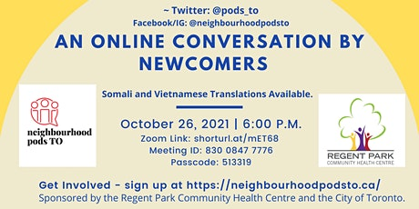 Newcomer Mental Health and Vaccines - An Intergenerational Conversation tickets