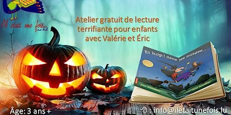Atelier gratuit en francais Halloween pour enfants (3+)  Lecture/Bricolage tickets