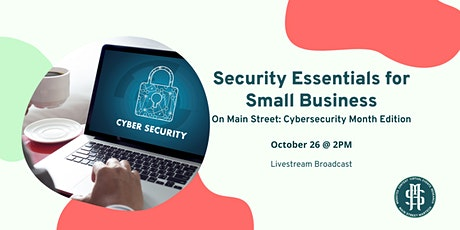 On Main Street: Security Essentials for Small Business tickets