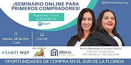 ¡SEMINARIO PARA PRIMEROS COMPRADORES! Comprar Tu Casa es posible. entradas