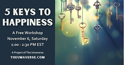Five Keys to Happiness (90-minute free workshop) tickets