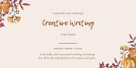 Online Creative Writing with Danni for Women & Girls tickets