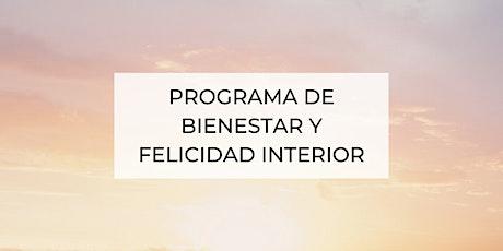 Programa para el bienestar y felicidad interior entradas