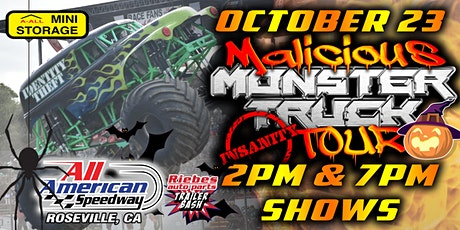 October 23rd, 2021 A All Mini Storage Malicious Monster Truck Bash tickets
