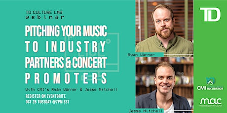 TD Culture Lab: Pitching your music to industry partners &  promoters tickets