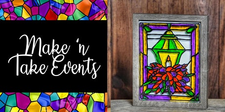Stained Glass Shadow Box Frame - Christmas Lantern tickets
