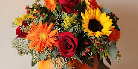 Flower arrangement pumpkin workshop tickets