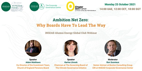 Ambition Net Zero: Why Boards Have To Lead The Way tickets