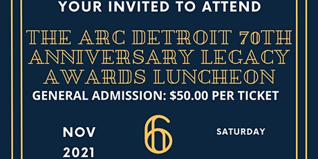 The Arc Detroit 70th Annual Awards Banquet tickets