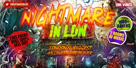 Nightmare In London - London's Biggest Halloween Party tickets