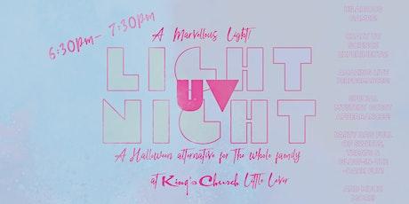 UV Light Night 6:30pm-7:30pm Sunday 31st October tickets