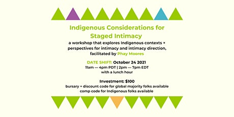 Restor(y)ing: Indigenous Considerations for Staged Intimacy tickets