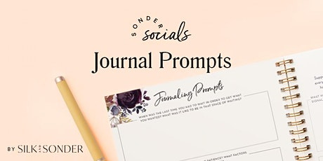 Sonder Social: Giving Thanks - Journal Prompts tickets
