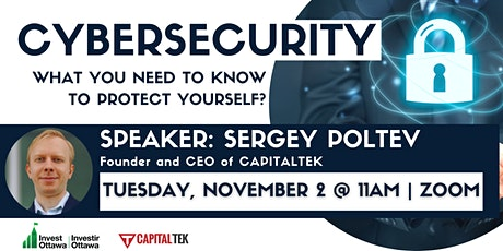Cybersecurity: What You Need to Know to Protect Yourself tickets