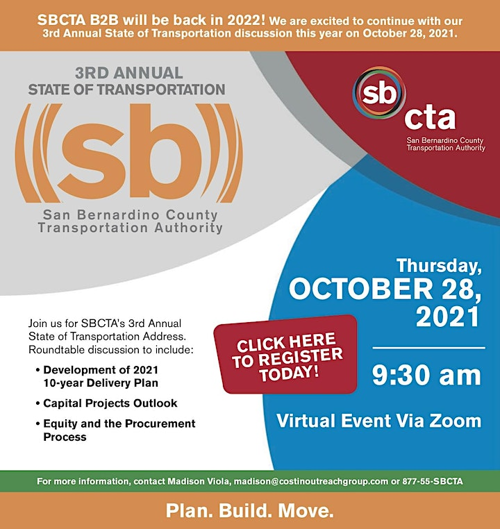 SBCTA  - 3rd Annual State of Transportation image
