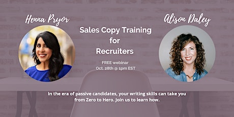 Sales Copy Training for a More Effective Recruiting Strategy tickets
