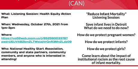 Listening Session: Health Equity Action Plan tickets
