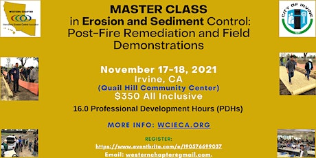 Master Class in Erosion and Sediment Control tickets